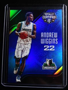 2015-16 Panini Totally Certified #88 Andrew Wiggins Timberwolves 10/99 Blue Card #MinnesotaTimberwolves