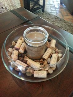 Wine party, centerpiece on coffee table