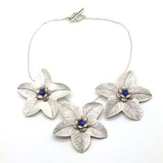 Flower PowerStatement NecklaceBib by SueSanderDesigns on Etsy