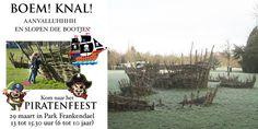 29 maart Park Frankendael - Piratenfeest voor kinderen van 6 - 10 jaar.