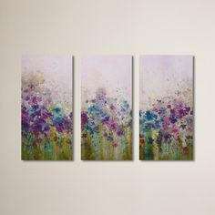 Found it at Wayfair - Dagmar 3 Piece Print of Painting on Wrapped Canvas Set