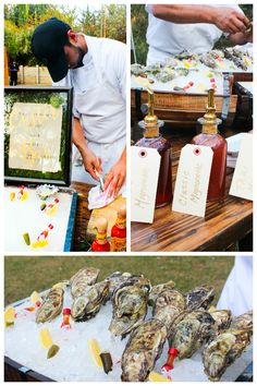 Create a unique experience with freshly shucked oysters and custom blended mignonettes at your next event. Perfect for wedding receptions!