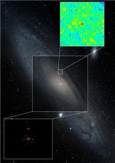 Astronomers Discover 'Missing Link' of Black Holes:    Dec. 12, 2012 — The discovery of a binging black hole in our nearest neighboring galaxy, Andromeda, has shed new light on some of the brightest X-ray sources seen in other galaxies, according to new work co-authored by astronomers from the International Centre for Radio Astronomy Research's Curtin University node.