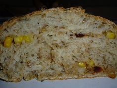 Bread made with spent grain, fresh corn, chipotle