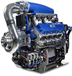 BEAUTIFUL ENGINE !!! GM Corporate based big block with centrifugal supercharger and dry sump oiling.