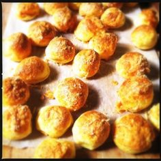 Gourgeres - My favorite appetizer to make for company and to enjoy with Champagne!