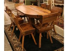 Slab Table and 6 Dining Chairs