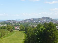 View towards Calton Hill, Castle Hill and Arthur's Seat from the Rest and Be Thankful on Corstorphine Hill Edinburgh. Walk Edinburgh's 7 Hills while staying at Craigwell Cottage, Edinburgh - http://www.2edinburgh.co.uk