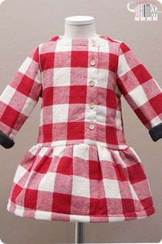 Large Gingham Winter Dress. While stock lasts @Christa Oakes.com