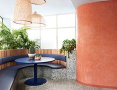 The colourful work of iconic Mexican architect, Luis Barragan, informs the invigorating aesthetics of Fonda's arrival in Bondi. Lebbeus Woods, Richard Meier, John Pawson, Carlo Scarpa, Zaha Hadid Architects, Le Corbusier, Terrazzo, Design A Space, Cafe Design