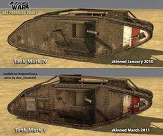 British WW1 tank models.