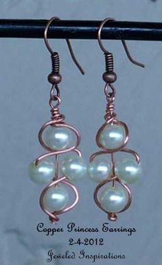 ShopHandmade - Copper Princess Earrings by Angela originals for Jeweled Inspirations. Fabulous!