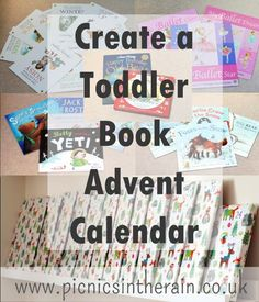 Put together a book advent calendar for your toddler or preschooler to inspire a love of books and help raise a reader. Toddler Learning Activities, Toddler Preschool, Book Activities, Advent Calendar For Toddlers, Book People, Toddler Books, Play To Learn, Book Themes, Christmas Books
