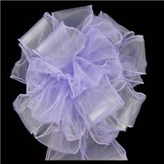 His & Hers Lavender Wired Edge Sheer Wedding Bow | Shop Hobby Lobby