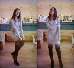 Get this look: http://lb.nu/look/8617353  More looks by Daria Plyonkina: http://lb.nu/user/3568426-Daria-P  Items in this look:  Gamiss Boots   #chic #elegant #street