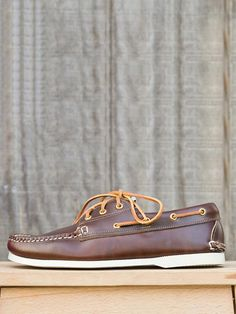 Simplistic Style - New England Outerwear - Brown 3-Eye Boat Shoe