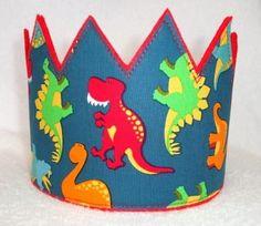 Dinosaur Birthday Crown, Birthday Crown, Boys Birthday Hat, Dinosaur Birthday Party