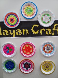 Mayan Craft - Use paper or styrofoam plates and permanent markers to design your own Mayan relic!