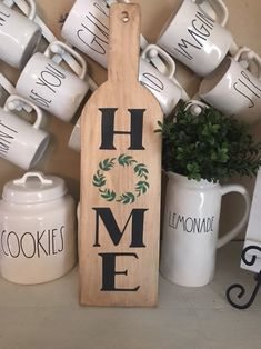 Cutting board Home sogn with wreath, Farmhouse home sign, Kitchen Home cutting board sign, rustic kitchen decor Farmhouse Cutting Boards, Diy Cutting Board, Board And Brush, Rustic Kitchen Decor, Kitchen Ideas, Kitchen Modern, Kitchen Layout, Kitchen Inspiration, Modern Farmhouse
