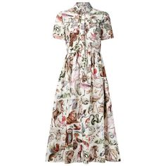 Valentino Animal Kingdom Print Dress ($2,590) ❤ liked on Polyvore