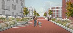 Sun Boulevard   Leninskiye Gorki, Russia   FORM bureau #urbandesign #landscape #render #perspective