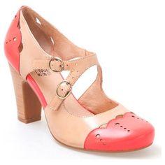 Miz Mooz Joni two-tone heel - love the details.