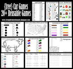*FREE* Printable Road Trip Games