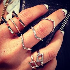 A few new rings from the pre fall collection  #nailart #vitafede #swarovski
