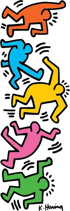 Keith Haring Color People by tutillo