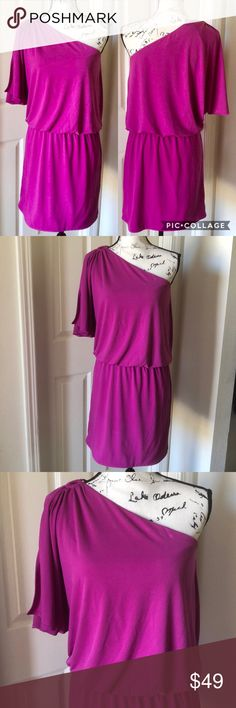 NEW LADIES MAGENTA BROACH HOT MINI GOING OUT DRESS 8-18