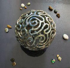 Abat-jour lampe de table en céramique Raku par FedericoBecchettiArt