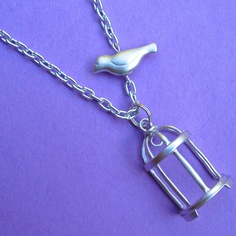 SHE'S GONE necklace.  Love it. $24.00.  http://www.etsy.com/listing/98992946/shes-gone?#