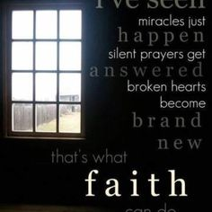 Have faith ;-)