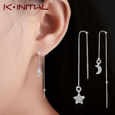 Charm Hollow Love Heart Geometry Earring Earline Jewelry Simple Fashion Earrings