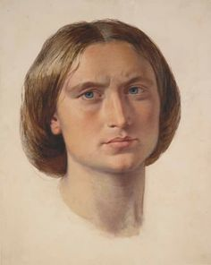 Portrait of George Eliot by Frederick William Burton.