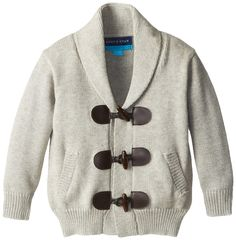 Andy & Evan Baby-Boys Infant Grey Toggle Cardigan, Brown, 12-18 Months