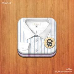 11.12.2012 | Icon for wash.io by Aditya. #laundry #valet #ninjas #POTD99
