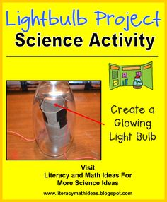 Literacy & Math Ideas: STEM in the Classroom: Make a Lightbulb--Fun activities to teach the Next Generation Standards