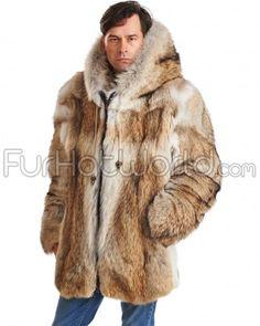 Lucas Burgundy Rabbit Fur Hooded Bomber Jacket for Men