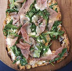 Greens on White Pizza - Fine Cooking Recipes, Techniques and Tips