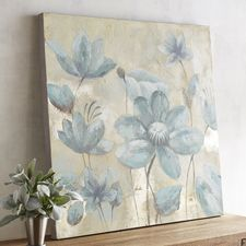 Smoke Blue Flowers Art
