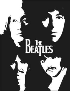 The Beatles Logo With Faces Vinyl Decal