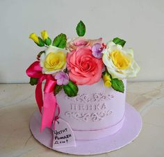 Flower box cake by TortIva Flower Boxes, Flowers, Beautiful Birthday Cakes, Floral Cake, Box Cake, Cake Art, Cake Decorating, Desserts, Party Stuff