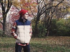 Keep warm with a @thenorthface flannel, @patagonia vest and #burton beanie!
