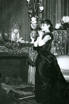 Maria Callas as Violetta Valéry in the legendary 1955 Visconti production of La Traviata for the Teatro alla Scala.