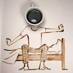 Abstract Art by Christoph Niemann. Christoph Niemann is a graphic designer, illustrator, artist, and author of several books from Germany. For more View Website Coffee Photos, Coffee Pictures, I Love Coffee, My Coffee, Coffee Logo, Coffee Cafe, Coffee Shop, Coffee Menu, Christoph Niemann