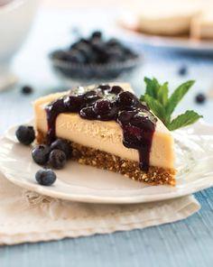 Raw Blueberry Cheesecake Recipe (dairy-free, gluten-free, and vegan) from Choosing Raw by Gena Hamshaw