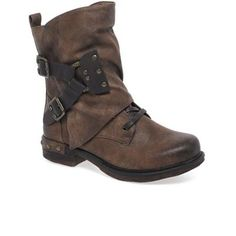 1972eeb4a5e9 Rieker Brown  Andros  Ladies Mid-Calf Casual Boots