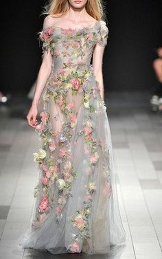 Embroidered Tulle Gown by Marchesa