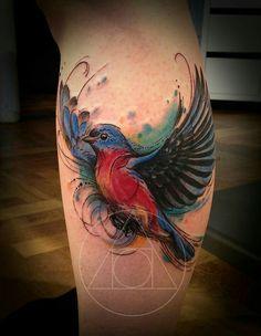 Bluebird tattoo